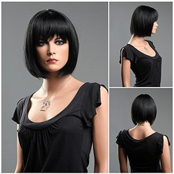 (WG-S1325-1) ROXY DISPLAY  Female Short Hair Wig. Dark Color.