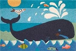 Jellybean Whale & Friends Area Rug