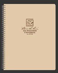"""J.l. Darling Rite in the Rain 8 1/2"""" x 11"""" Tan Maxi Spiral Notebook"""