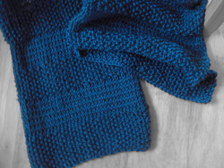 Tina Yint Textured Stripes Scarf - Blue - Size: One