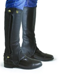 "Ovation Women's Precision Fit Half Chaps - Black - Size: 15""C x 17""H"