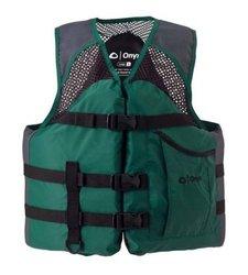 Onyx Unisex Mesh Classic Fish Vest - Green - Large
