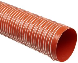 "Heat-Flex GS Fiberglass Duct Hose - Iron Oxide Red - Size: 7""ID X 12' L"