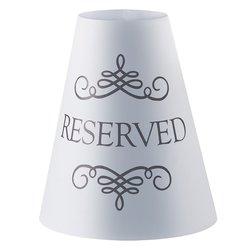 """Hoffmaster Reserved Wine Glass Shade & Tea Light - Size: 4-3/8"""" x 4-3/4"""""""
