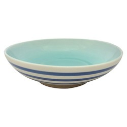 Threshold Stoneware Bowl Footed - Blue Stripe