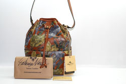 Patricia Nash Leather Printed Drawstring Bucket Bag - Multi - Size: One