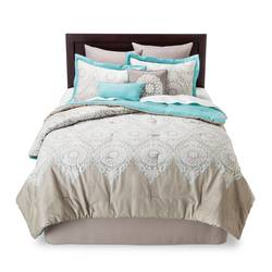 Chic Home Valencia Medallion 8 PC Comforter Set - Multi - Size: Cal King