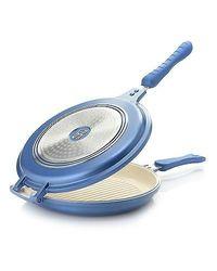 Cook's Companion Cast Aluminum Ceramic Nonstick Flip Around Pan