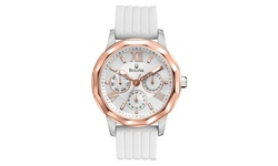 Bulova Woman's Watches Fashion Collection - White/Rose gold