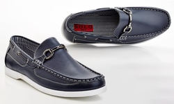 Solo Brad Men's Loafer Boat Shoes - Navy - Size: 7.5