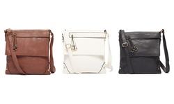 Zip-flap Messenger Bag: White
