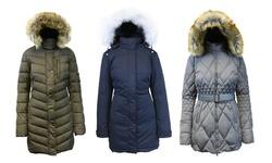 Spire By Galaxy Women's Bubble Jacket - Navy - Size: XL