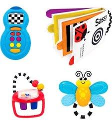 Sassy 4 Piece Toys Gift Set - 3+ Months Baby