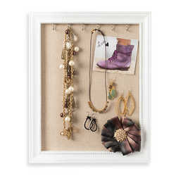 Hives and Honey Medium Jewelry Frame in White