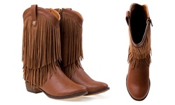 Nanette Lepore Girls Western Boots - Tan - Size: 2
