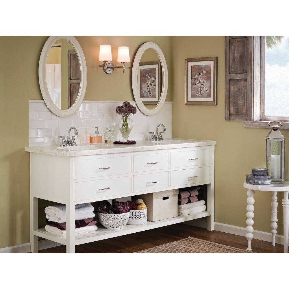 Moen Banbury 4 in. Centerset 2-Handle High-Arc Bathroom Faucet - Chrome