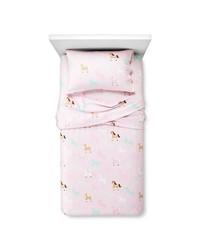 Circo Horse Flannel Sheet Set - Pink - Size: Toddler