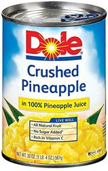 Dole Pineapple in Juice Crushed - 20 Ounce