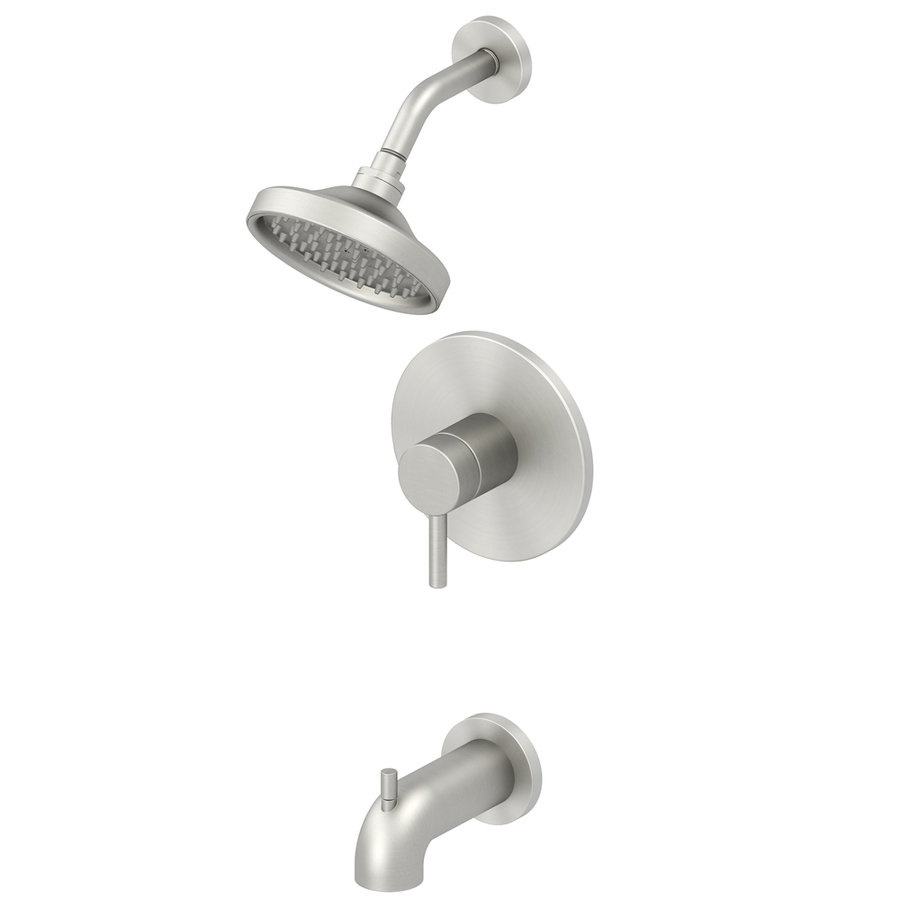 Jacuzzi Duncan Brushed Nickel PVD 1-Handle WaterSense Tub & Shower ...