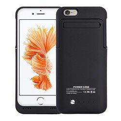 Apple Iphone 6 6S PLUS 4200 Mah Battery Charging Case With Stand - Bla