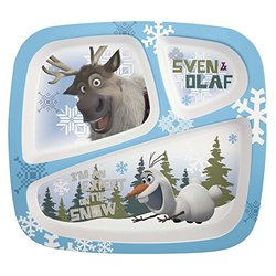 Zak! Designs Disney Frozen Olaf Divided Kid's Dinner Plate