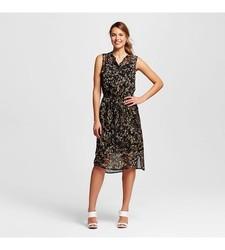 Merona Women's Fairytale Floral Shirt Dress - Black - Size: XX-Large