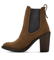 Merona Women's Charli Booties - Olive - Size: 7.5