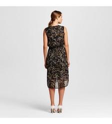 Merona Women's Fairytale Floral Shirt Dress - Black - Size: Large