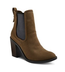 Merona Women's Charli Booties - Olive - Size: 8
