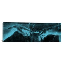 """iCanvasART The Creation of Adam Canvas Art Print - Size: 60"""" X 20"""""""