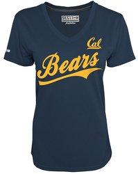 Majestic NCAA Women's Short Sleeve V Neck T-Shirts - Navy - Size: XX-L