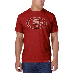 NFL San Francisco 49ers Men's Crew Neck T-Shirts - Red - Size: X-Large