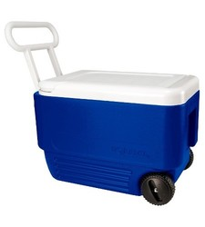 Igloo Wheelie Cool 38 Quart Cooler - Blue/white