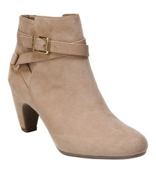 Sam & Libby Women's Mable Buckle Ankle Booties - Tan - Size: 6.5