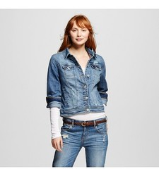 Mossimo Women's Denim Jacket - Blue - Size: Large