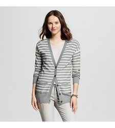 Mossimo Supply Women's LongSleeves Boyfriend Cardigan - Gray - Size: Small