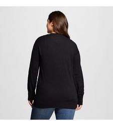 Mossimo Women's Plus Size Cardigans - Ebony - Size: X-Large