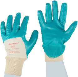 Ansell Easy Flex Nitrile Glove Pack of 12 Pairs - Teal - Size: 8