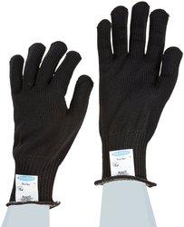 Ansell Polar Bear Stainless Steel/Fiber Glove Pack of 12 - Black - Size: 9