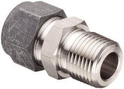 "Parker CPI 316 SS Compression Tube Fitting - 3/4"" Tube OD x 1"" NPT Male"