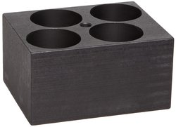 Talboys Anodized Aluminum Standard Test Tube Single Heat Block - 35mm Tube