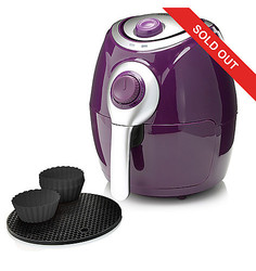 Cook's Companion 2.2 QT High Speed Air Fryer with Baking Cups - Plum