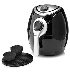 Cook's Companion 2.2 QT High Speed Air Fryer with Baking Cups - Black