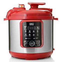Cook's Companion 6.3 Qt Ceramic 11 in 1 Digital Pressure Cooker - Red
