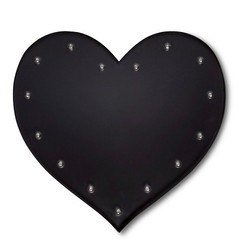 Threshold 15 Light Bulb Large Ebony Solid Heart Metal Marquee