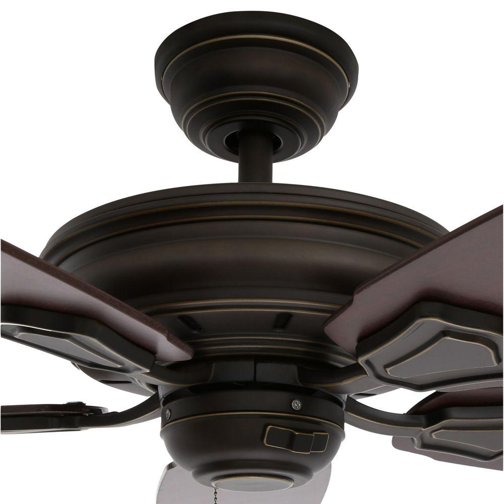Fan Hampton Bay 51218 Heirloom 52 Outdoor Oil Rubbed Bronze Ceiling