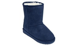 USA Dawgs Toddler Girl's Microfiber SheepDawgs Boots - Navy - Size: 6/7