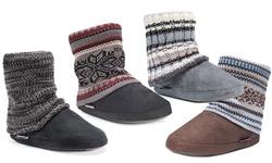 Muk Luks Women's Promo Legwarmer Boots - Charcoal - Size: Large