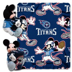 Nfl Mickey Mouse Hugger And Throw Set - Titans (1cob038000016ret)