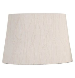 Threshold Embroidered Modified Drum Lamp Shade - Cream -Small